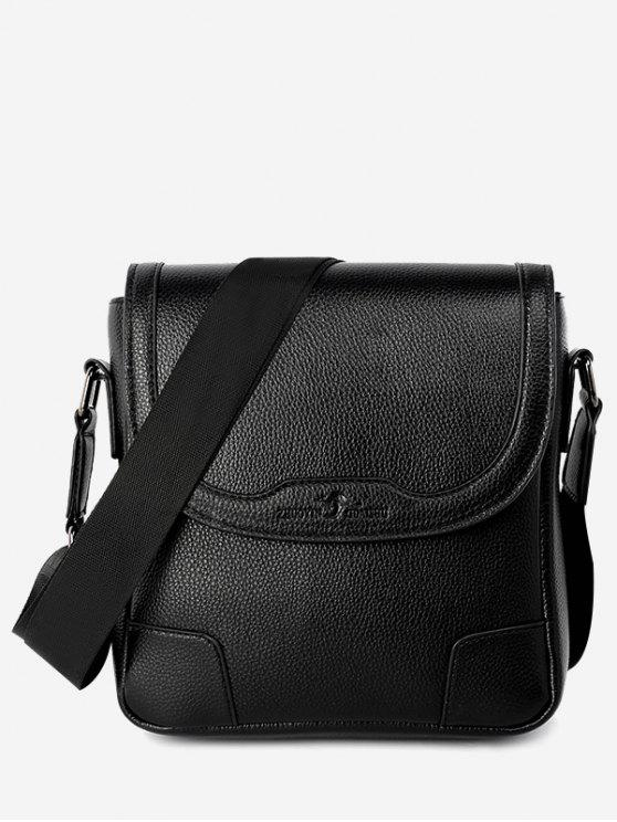 sale Embossing Stitching Crossbody Bag - BLACK VERTICAL