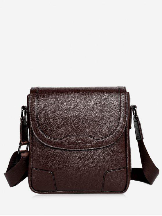 buy Embossing Stitching Crossbody Bag - COFFEE VERTICAL