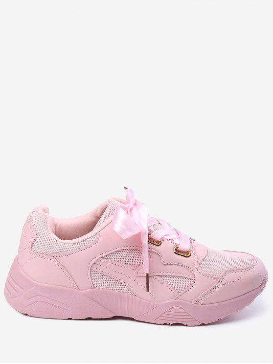 women's Breathable Athletic Shoes - PINK 36