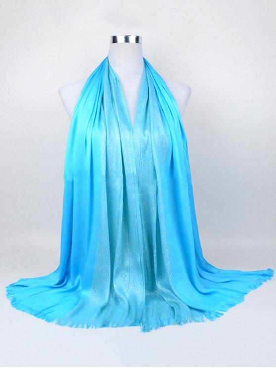 women Soft Spun Gold Tone Long Scarf - WINDSOR BLUE