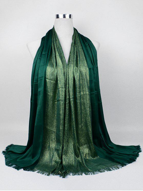 online Soft Spun Gold Tone Long Scarf - PEA GREEN