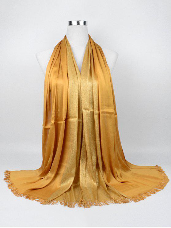 Écharpe longue en fil d'or tressé - Curcumae