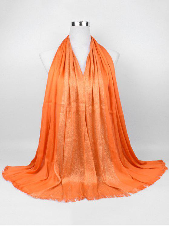 outfit Soft Spun Gold Tone Long Scarf - ORANGE YELLOW