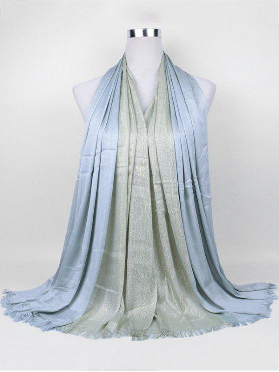 outfits Soft Spun Gold Tone Long Scarf - LIGHT GREY