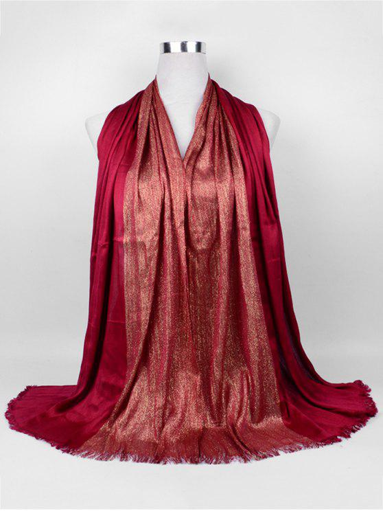 shops Soft Spun Gold Tone Long Scarf - CLARET