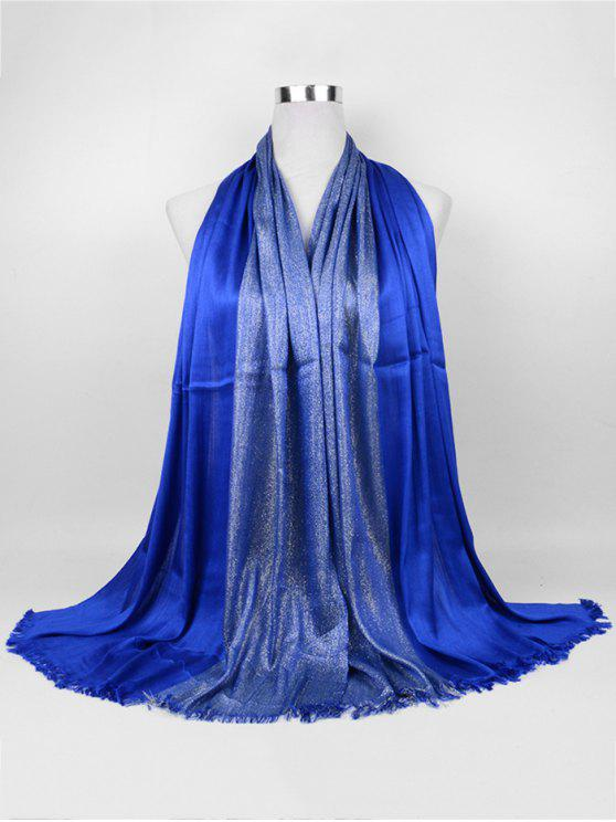 trendy Soft Spun Gold Tone Long Scarf - ROYAL