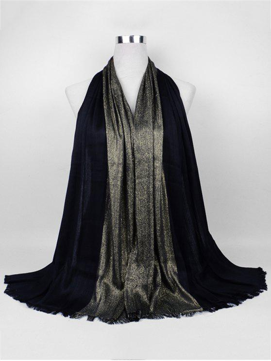 Écharpe longue en fil d'or tressé - Noir