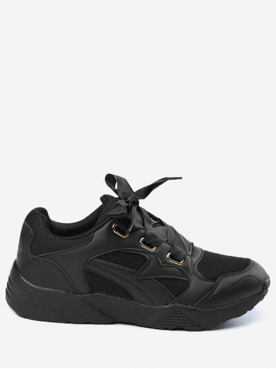latest Breathable Athletic Shoes - BLACK 35