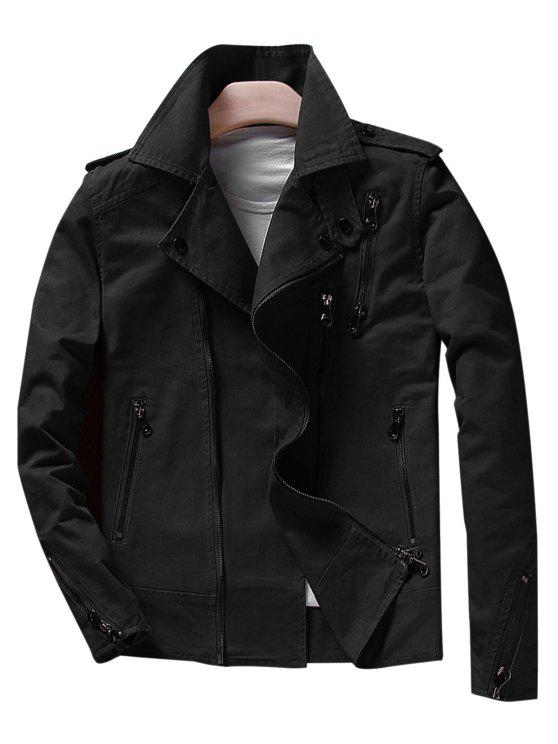 Giacca Asymetrical Slim fit Motocycle - Nero XL