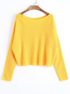 Übergroßer Pullover Mit Einer Schulter - Gelb