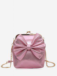 Bowknot Crossbody Bag - Pink