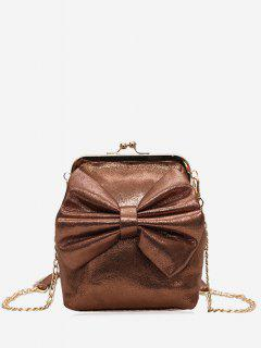 Bowknot Crossbody Bag - Brown