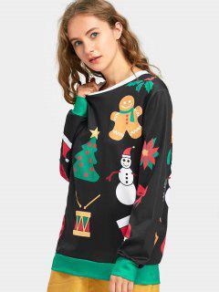 Tunic Christmas Sweatshirt - Black