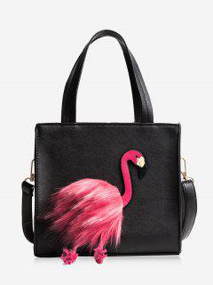Flamingo PU Leather Handbag - Black