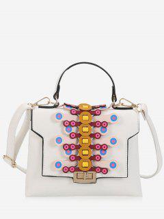 Color Blocking Handbag - White