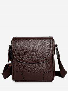 Embossing Stitching Crossbody Bag - Coffee Vertical