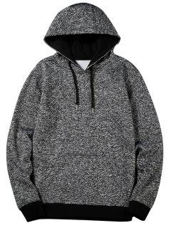 Heathered Casual Pullover Hoodie - Gray 4xl