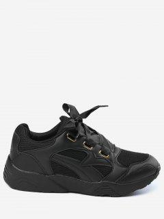 Breathable Athletic Shoes - Black 35