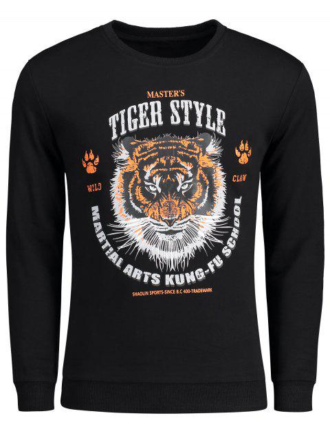Sweat-shirt Style Graphique Tigre - Noir XL Mobile