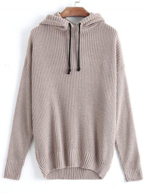 Suéter con capucha de gran tamaño - Caqui Única Talla Mobile