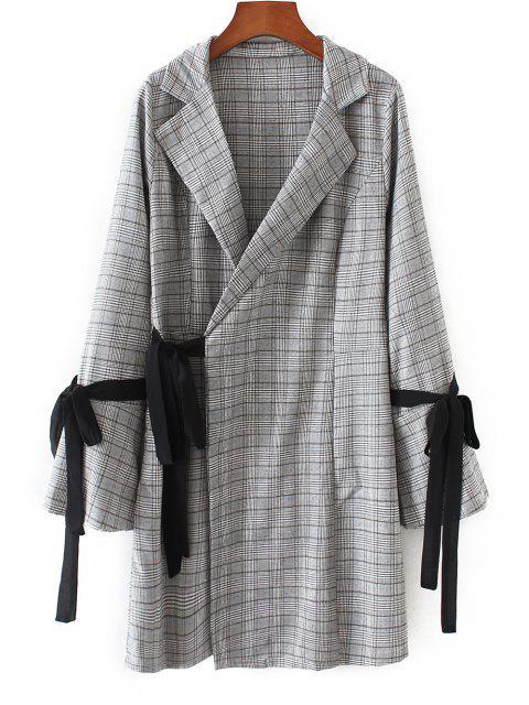 Robe Porte-feuille à Carreaux à Manches Longues - Carré S Mobile