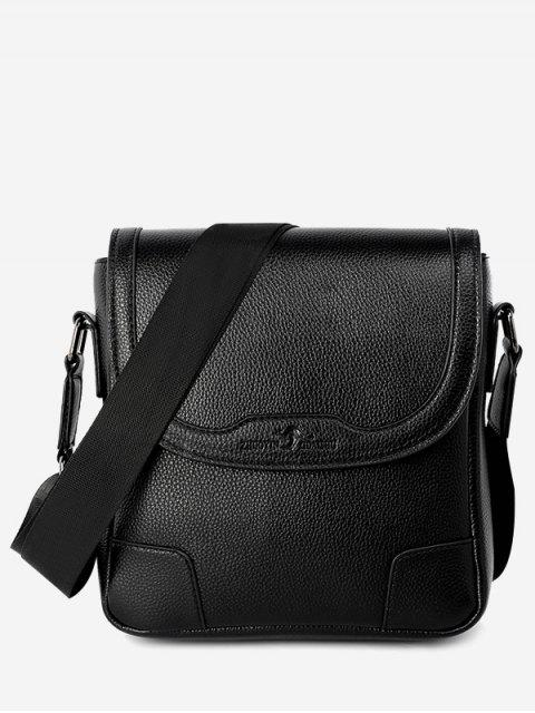 sale Embossing Stitching Crossbody Bag - BLACK VERTICAL Mobile