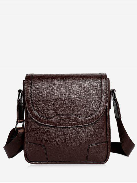 buy Embossing Stitching Crossbody Bag - COFFEE VERTICAL Mobile