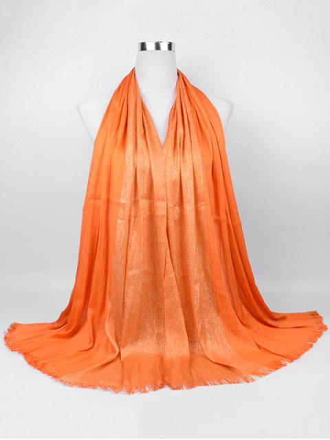 outfit Soft Spun Gold Tone Long Scarf - ORANGE YELLOW  Mobile