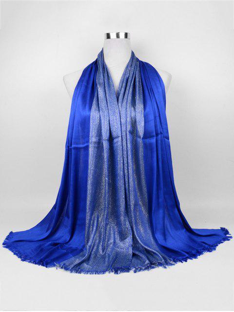 Bufanda larga de tono suave dorado - Azul Zafiro  Mobile