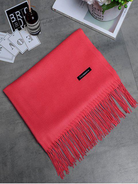 Bufanda larga con flecos de cachemira de imitación vintage - Sandia Roja  Mobile