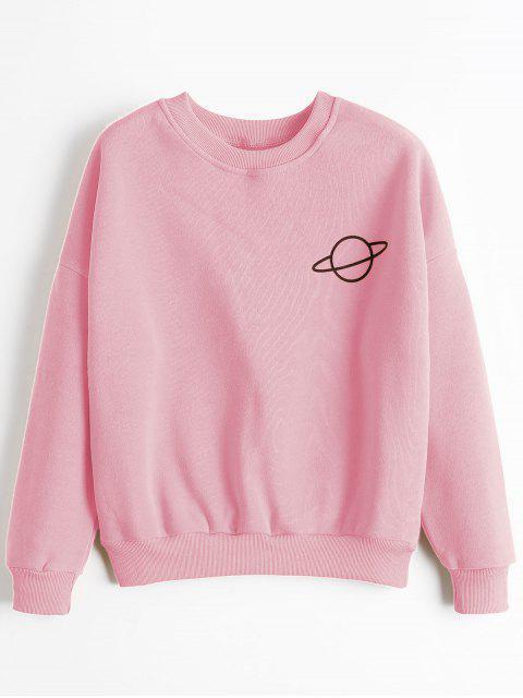 Planet Langarmeliges Sweatshirt - Pink Eine Größe Mobile