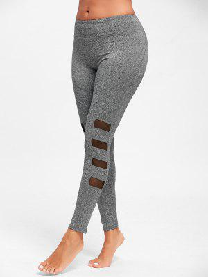 Mesh Insert Workout Tights