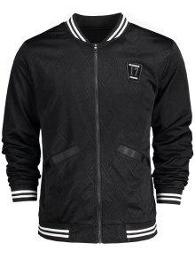 B 3xl 233;isbol De Patched Chaqueta Badge Negro 65gqnwR