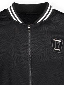 3xl Badge 233;isbol B De Negro Patched Chaqueta gwZx1U8q1