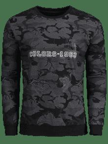 3xl Pullover Camo Pullover Camo Sudadera Negro rXrqwp