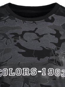 Pullover Camo Sudadera Negro Camo 3xl Pullover 78rn8g