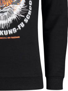Del Tigre Gr Xl Del 225;fica Camiseta Estilo Negro X4TEpq