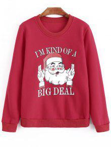 Sweatshirt De Grande Taille Surdimensionné - Rouge 2xl