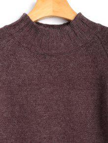 Jacquard Robe À Pull Manches Mini Longues cARLq435j