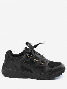 تنفس أحذية رياضية - أسود 35