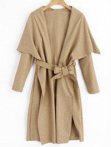 Shawl Collar Belted Coat