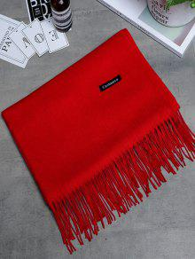 Vintage Faux Cashmere Fringed Long Scarf