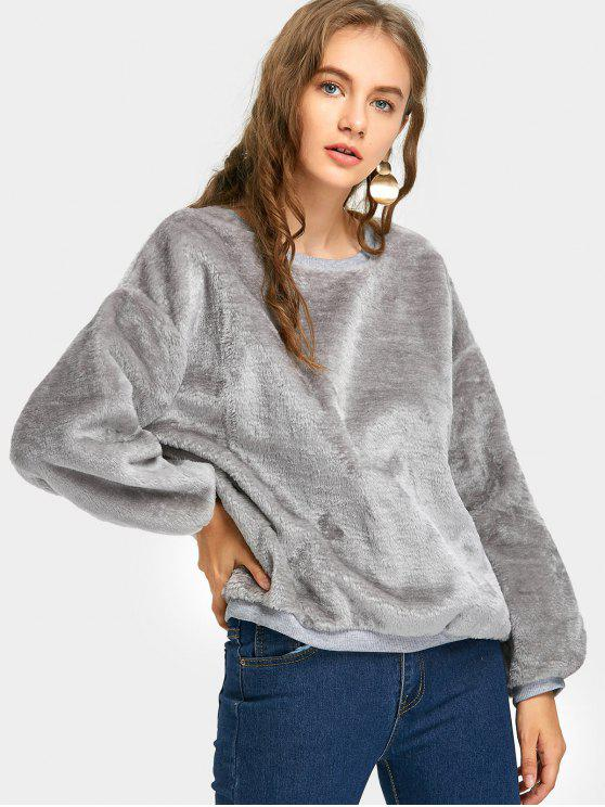 Cute Fluffy Sweatshirt - Gray