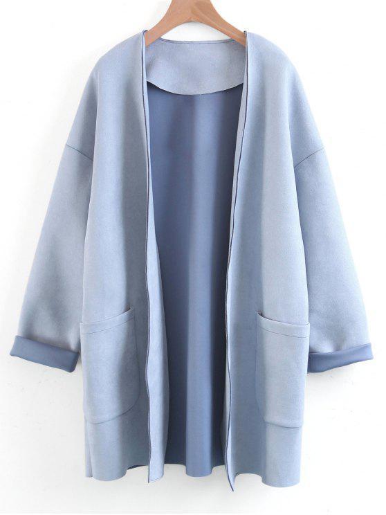 Manteau en Silimi Suède - Bleu Léger  M