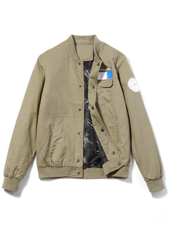 Veste Design Patch à Motif - Kaki 3XL