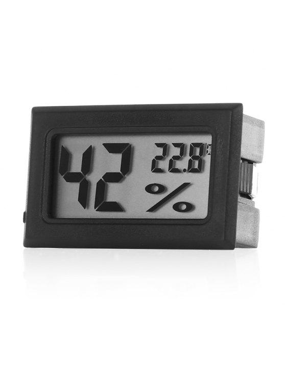 women Temperature Sensor Mini Digital LCD Thermometer Hygrometer - BLACK