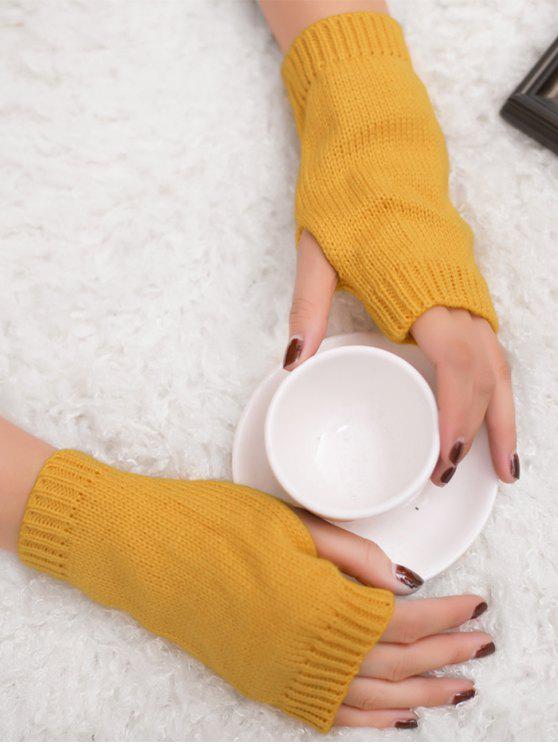 الشتاء الكروشيه قفازات أصابع - زنجبيل