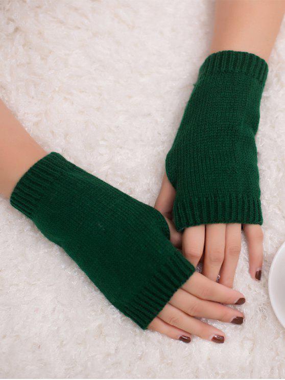الشتاء الكروشيه قفازات أصابع - مسود الخضراء