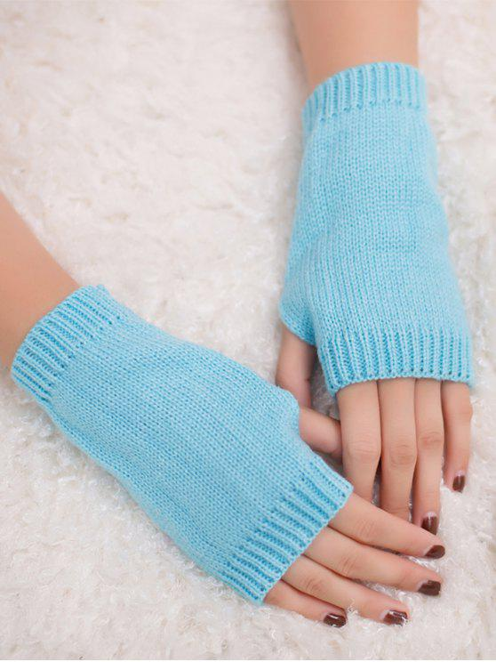 الشتاء الكروشيه قفازات أصابع - الضوء الأزرق