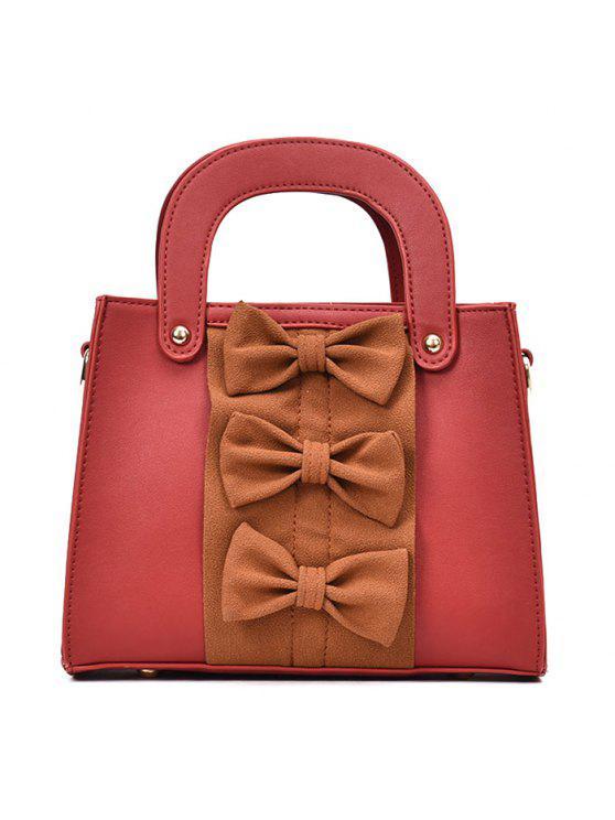 حقيبة يد بلون القوس - أحمر